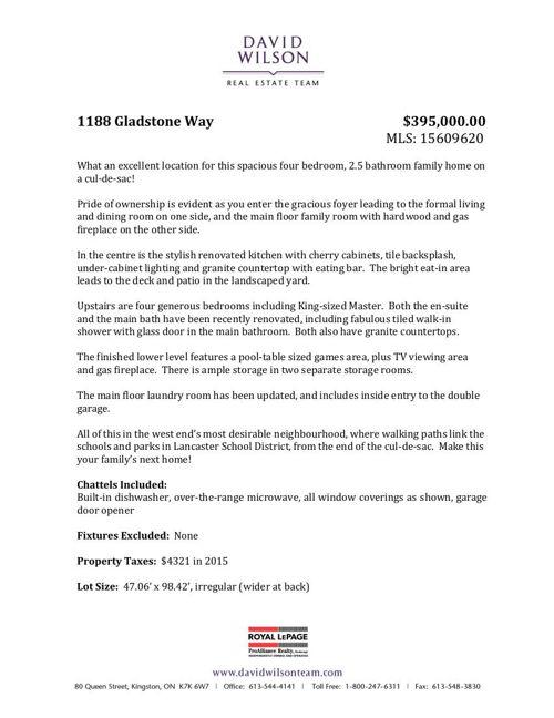 1188 Gladstone Way