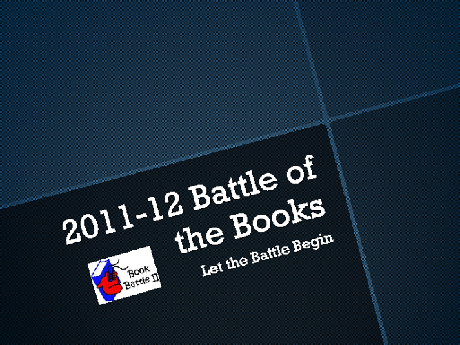 Battle of Books Example