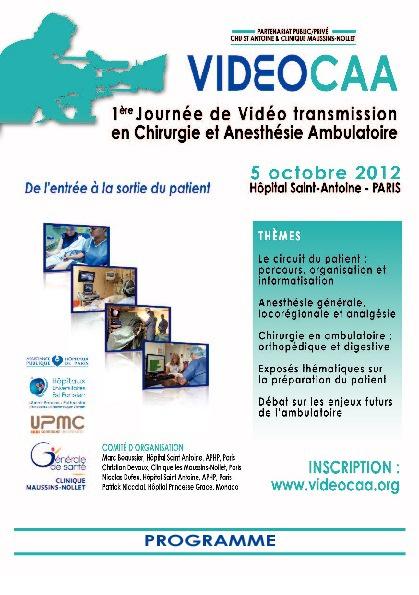 1ere journée VIDEOCAA à l'hôpital Saint-Antoine
