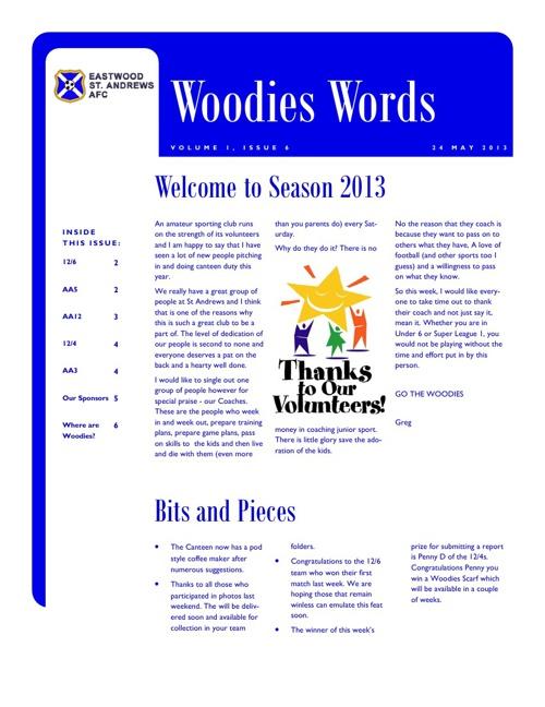 Woodies Words Week 6