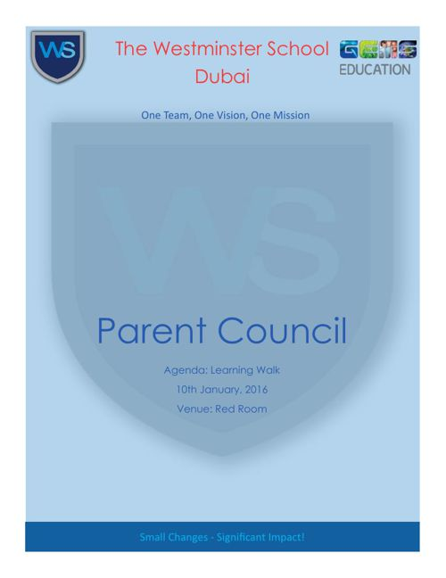 Parent Council 2015-2016