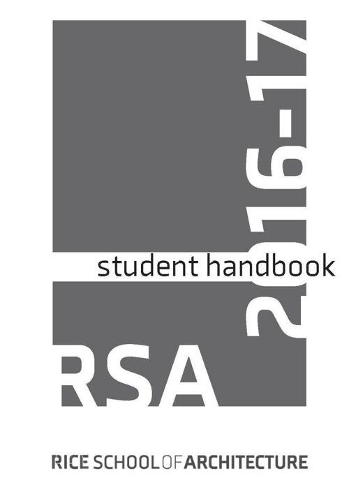 2016-2017 RSA Student Handbook