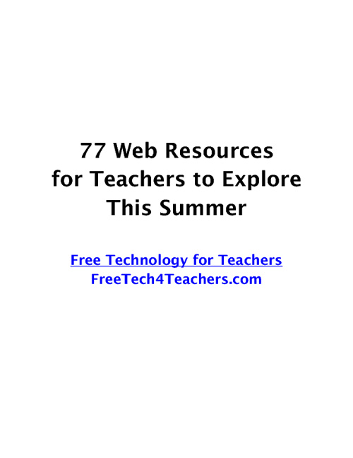 77 Things for Teachers to Try This Summer