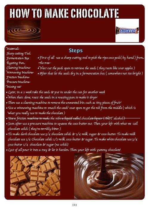 How to make chocolate!!!