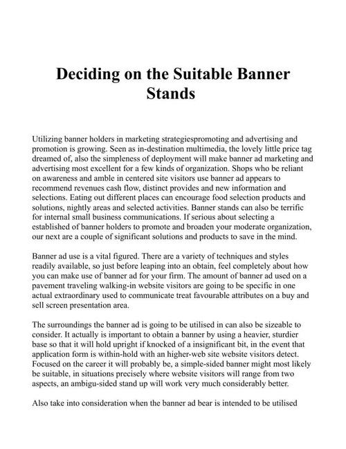 Bannerstandfactory