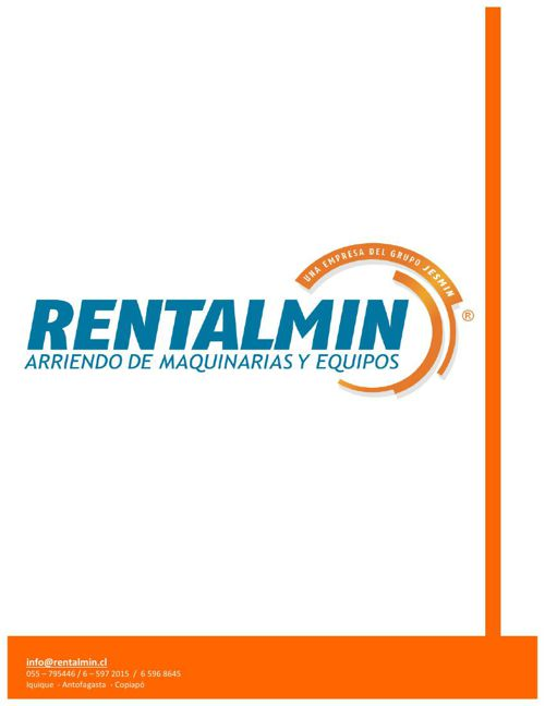 Catalogo Rentalmin SPA