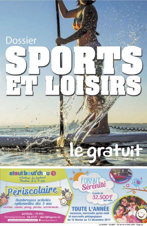 Le Gratuit interactif - Sports et Loisirs - 1er mars 2018