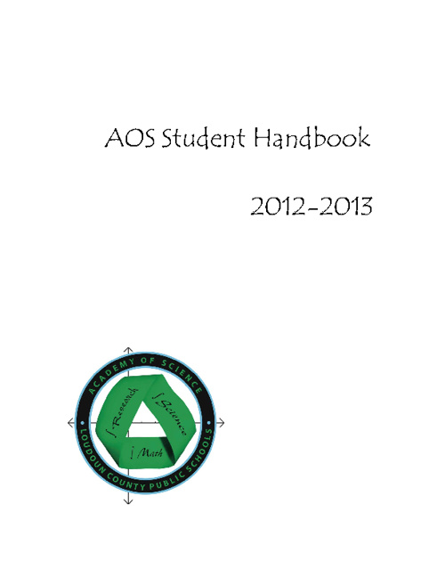 AOS Student Handbook 2012-2013
