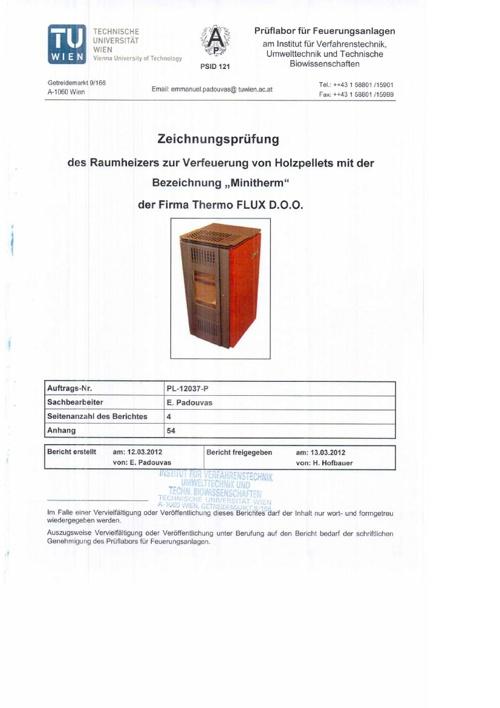 Minitherm 8 certificate