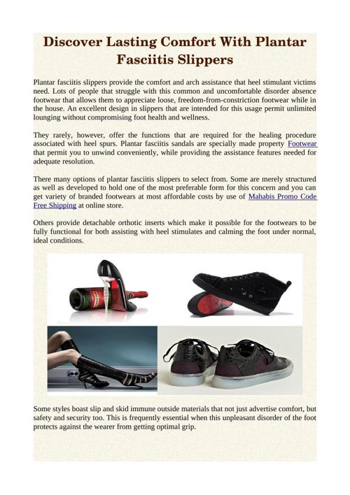 Discover Lasting Comfort With Plantar Fasciitis Slippers