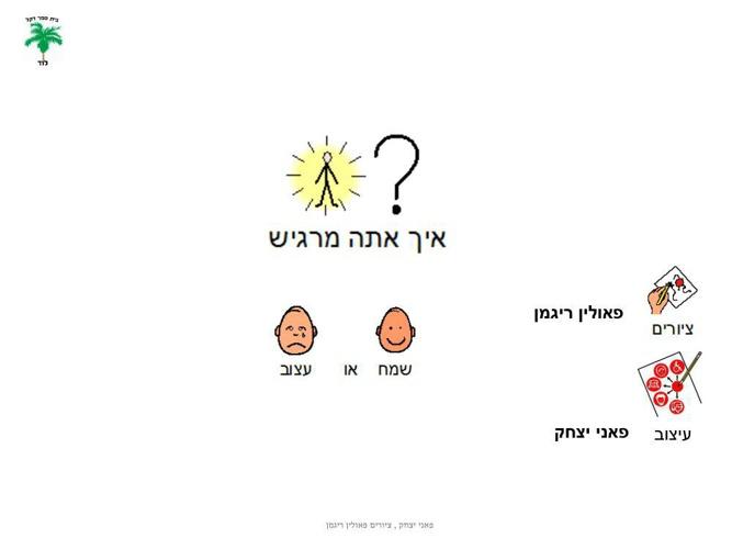 ספר זיהוי רגשות  שמח עצוב פאני יצחק ופאולין ריגמן