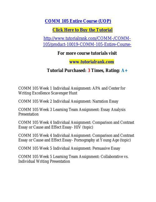 COMM 105 learning consultant / tutorialrank.com