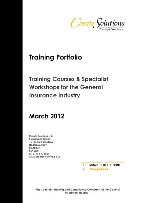 Training Portfolio
