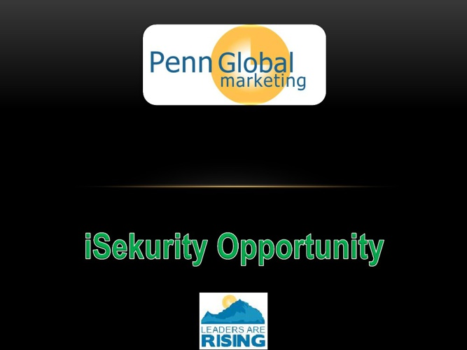 iSekurity - The opportunity
