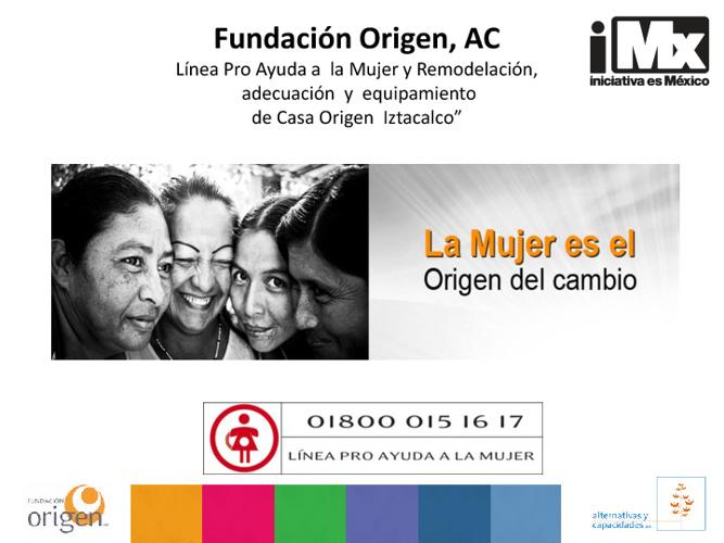RF - Fundación Origen - Línea Pro Ayuda a la Mujer