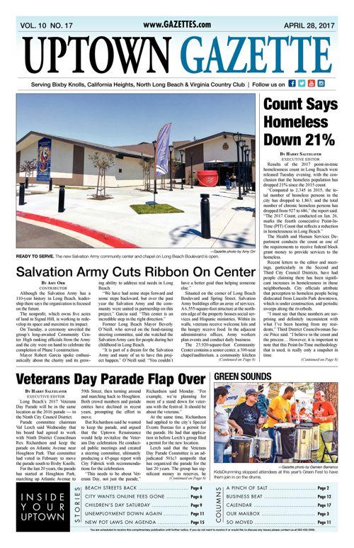 Uptown Gazette  |  April 28, 2017