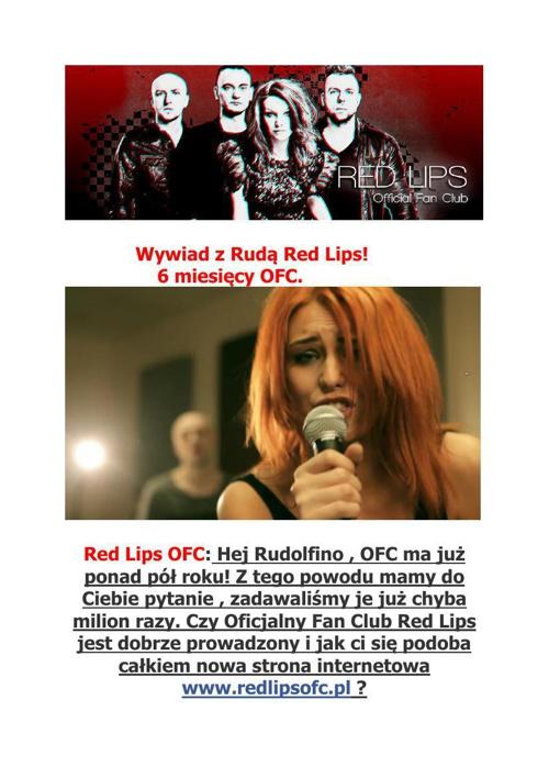 Ruda Red Lips - wywiad 6 miesięcy OFC.