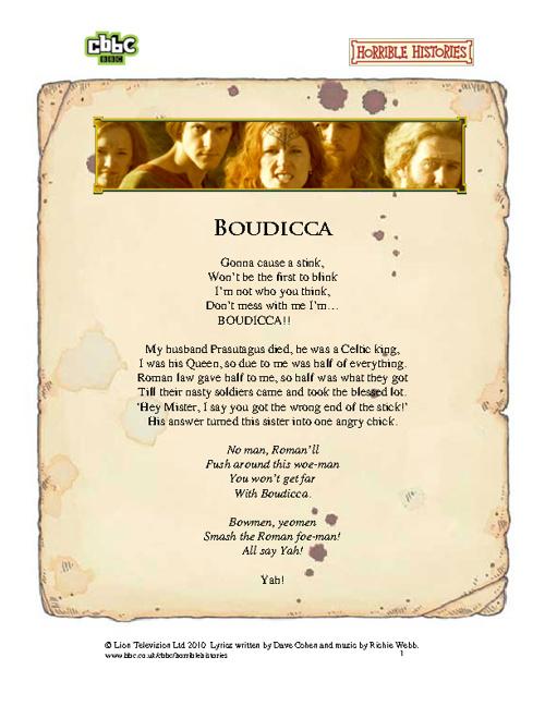 Boudicca Lyrics