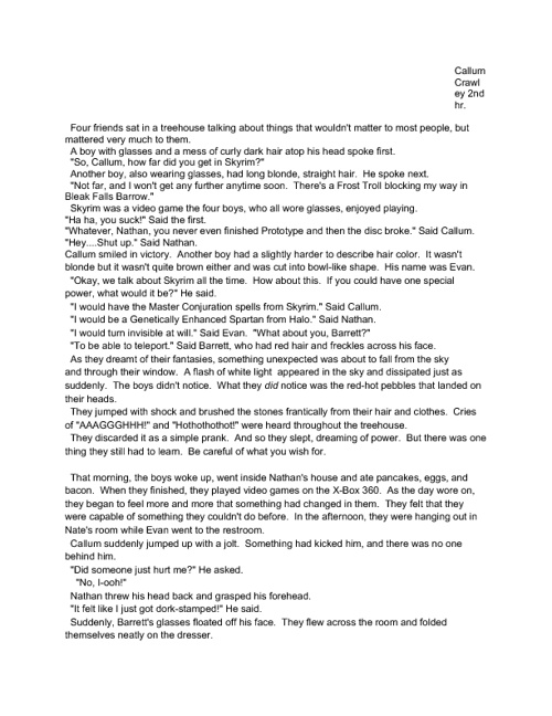 My Epic Awesome Sci-Fi Story of Awesomeness