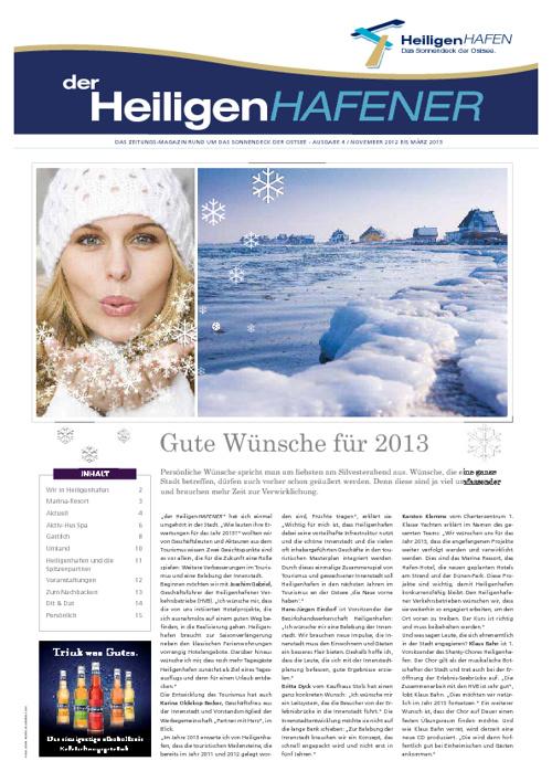 der HEILIGENhafener - 4. Ausgabe November 2012 bis März 2013