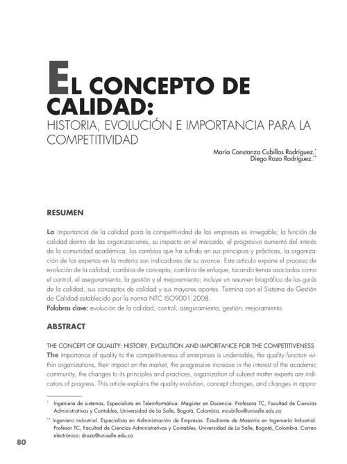 El concepto de calidad: Historia, evolución e importancia