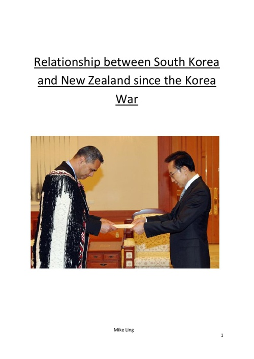 Relationship between South Korea and New Zealand