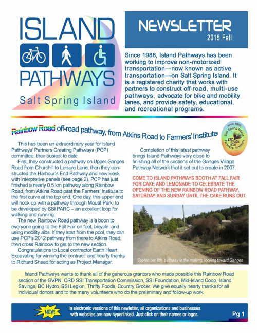 Island Pathways 2015 Fall Newsletter