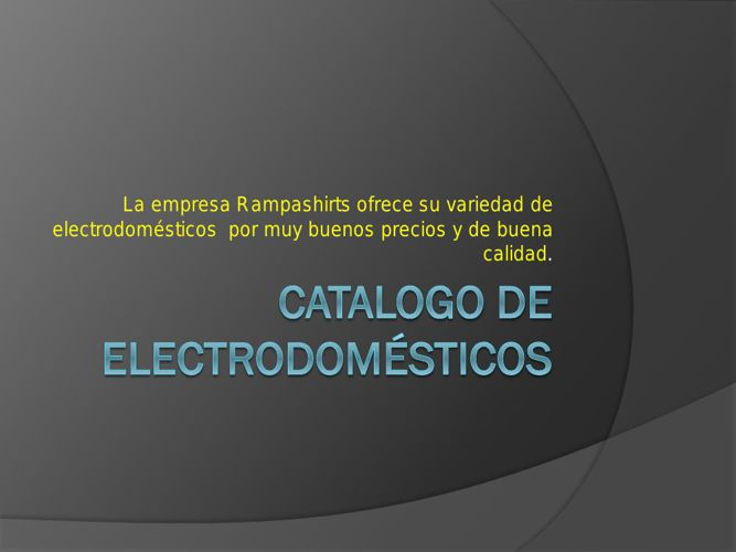 Catalogo de electrodomésticos