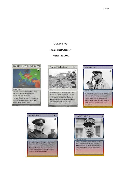 WWI Essay