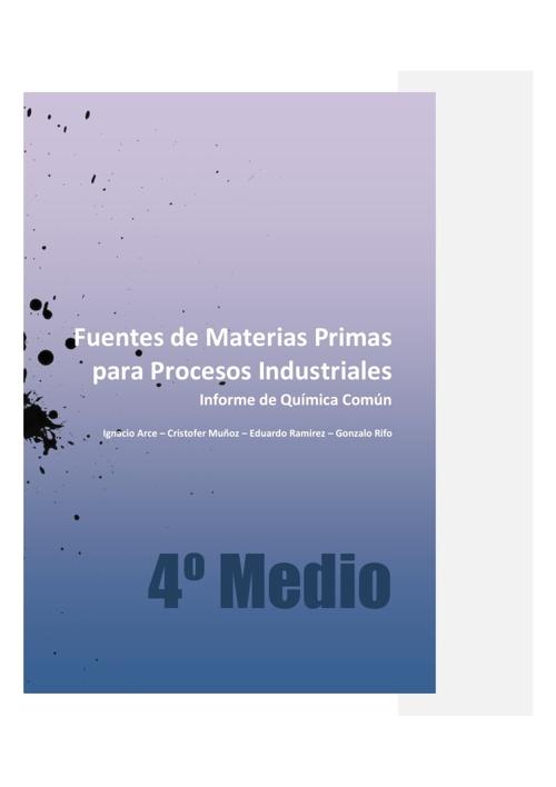 Fuentes de Materias Primas para Procesos Industriales_REV