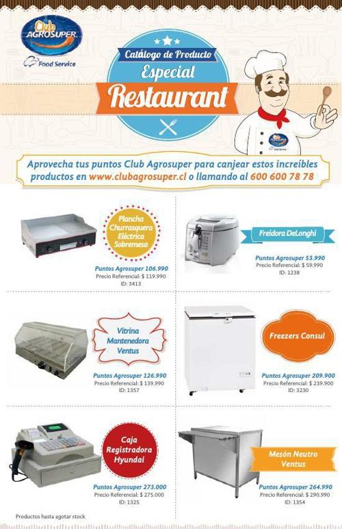 Catálogo de Producto Especial Restaurant - Club AGROSUPER