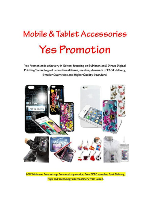 Mobile & Tablet Accessories Yes Promotion