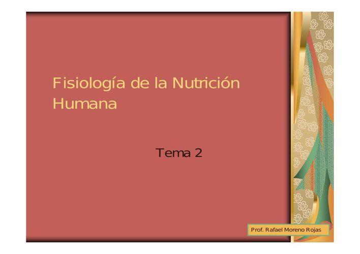 FISIOPATOLOGIA DE LA NUTRICION