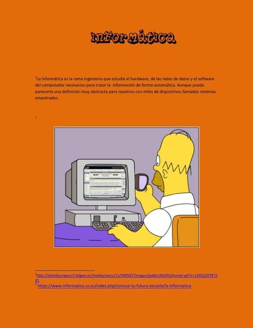 Informática de computadores