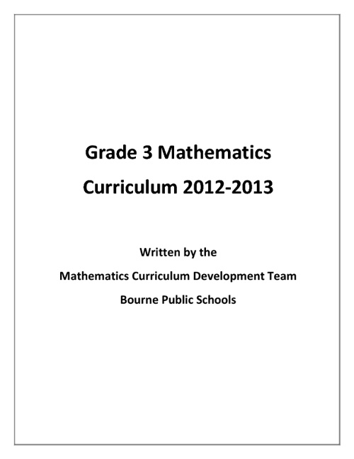 Grade 3 Mathematics Curriculum