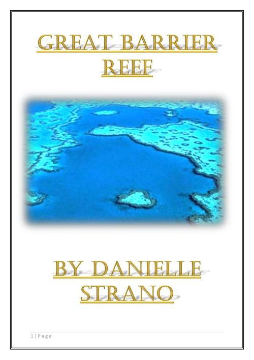 Danielle Strano Great Barrier Reef