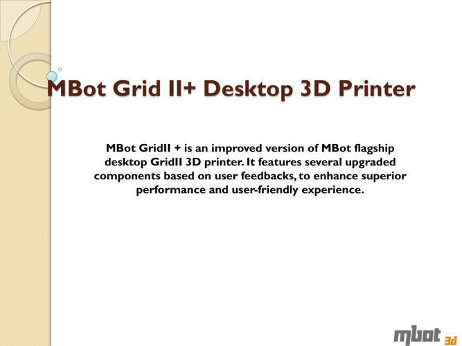 Best Desktop 3d Printer by Mbot Grid II