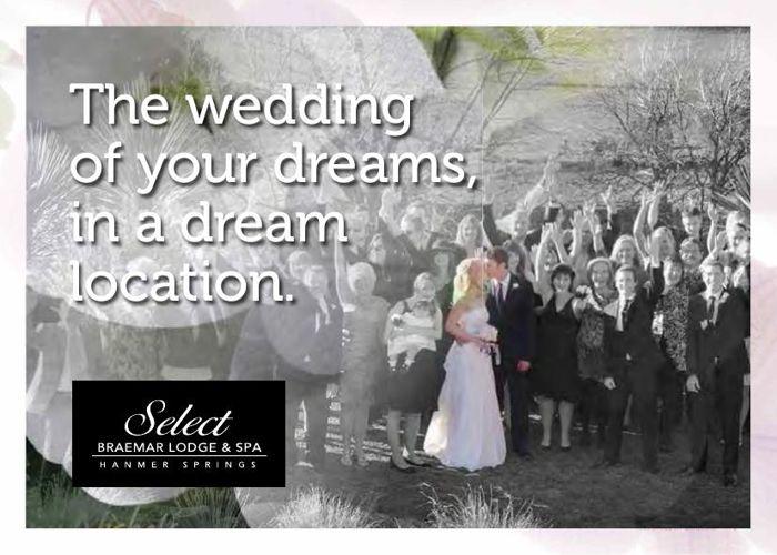 Select Braemar Lodge, Hanmer Spring, NZ - Weddings