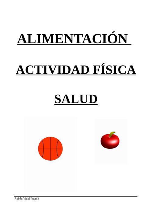Copy of Trabajo sobre la alimentación, actividad física y salud