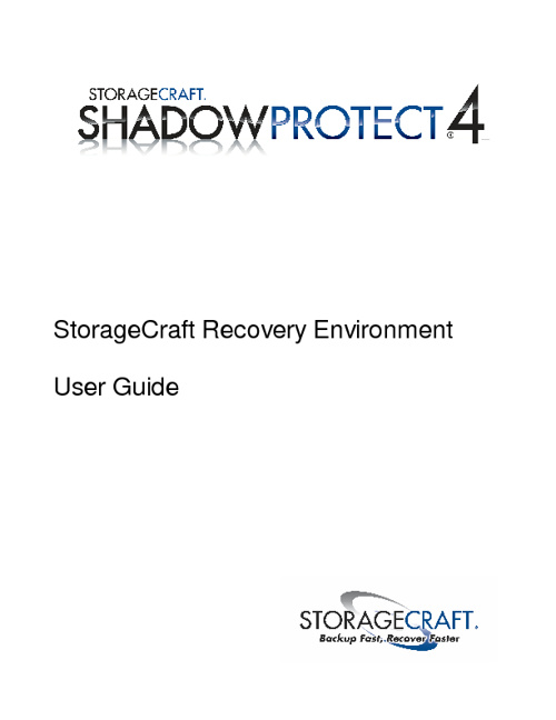 Storage Craft backup Recovery Guide