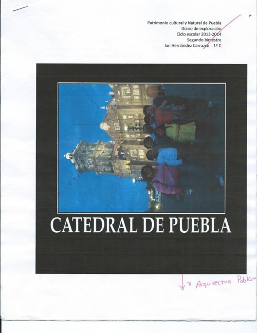 ASIGNATURA ESTATAL CATEDRAL DE PUEBLA