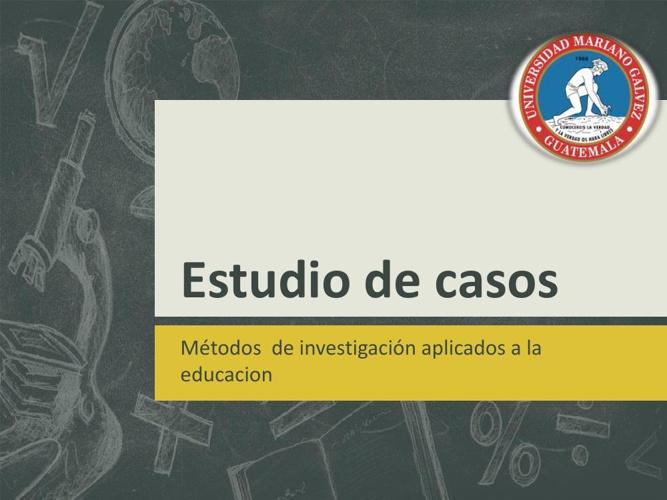 Estudio de casos pdf
