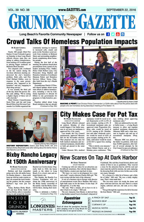 Grunion Gazette | September 22, 2016