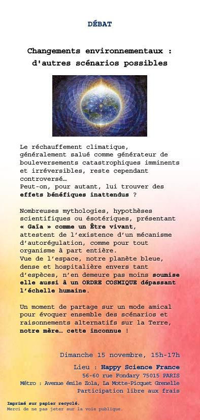 Activité Happy Science France - Octobre 2015