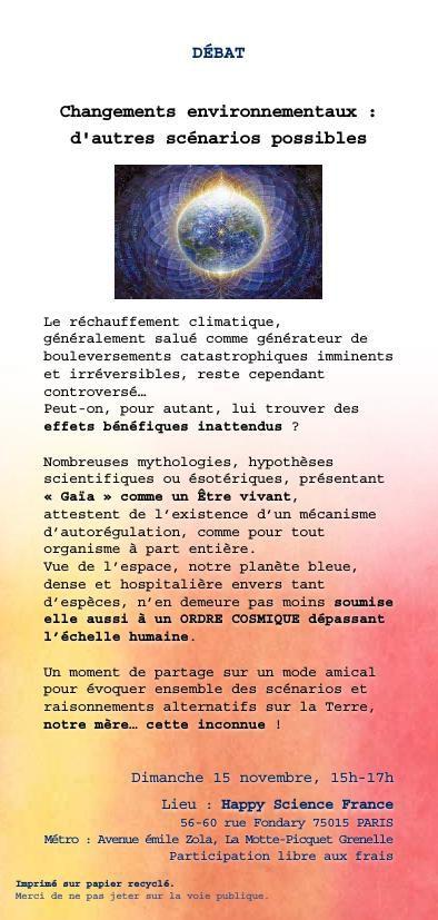 Activité Happy Science France - Octobre 2015