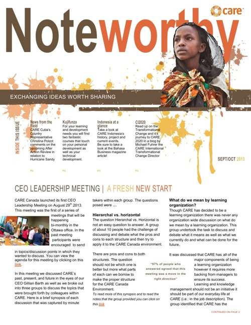 Noteworthy - Sept/Oct 2013