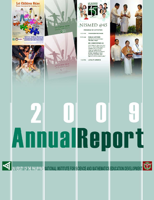 UP NISMED Annual Report 2009