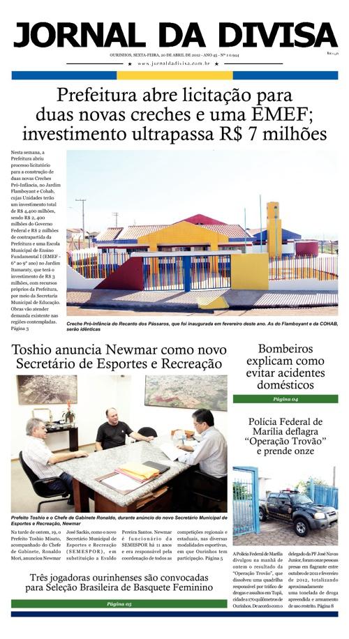 JORNAL DA DIVISA - Edição de 20 de Abril de 2012.
