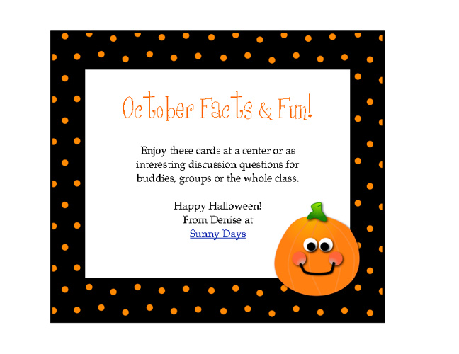 October Fun Facts