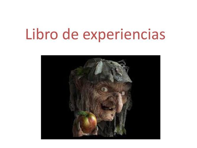 Libro de experiencias